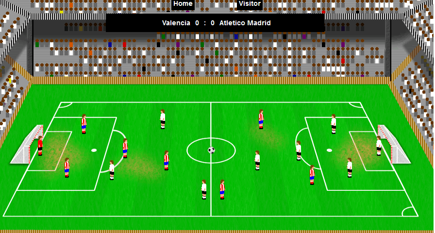 Game to simulate the Spanish football league