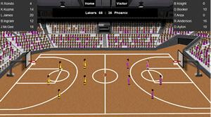 NBA game simulation